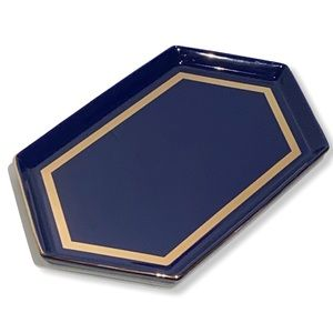 Seven Sisters Blue & Gold Serving Tray